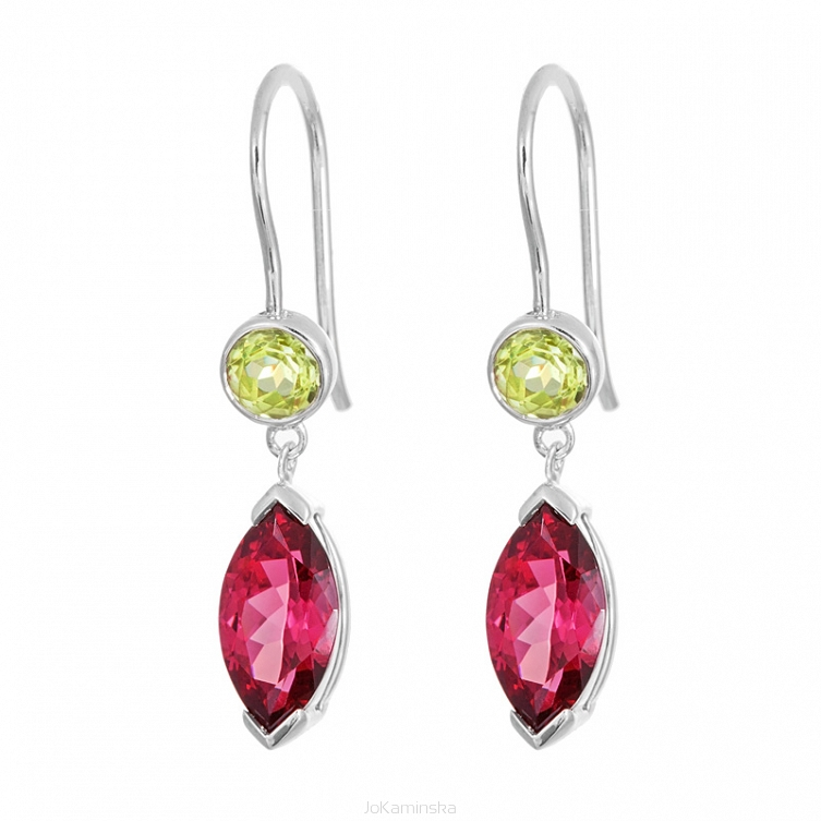 earrings made essentials with peridot elements swarovski