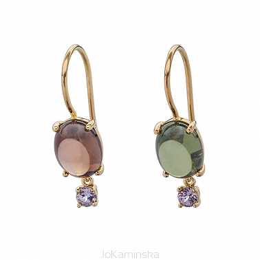Zircon and Lavender Spinel Earrings