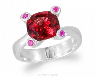Simplicity Garnet with Pink Sapphires Ring