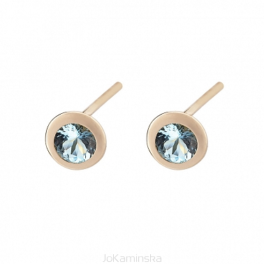 Confetti Gold Aquamarine Earrings