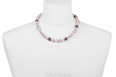 Pearl Peacock, Silver and Pink Necklace