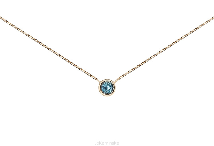 listing necklace minimalist march aquamarine aqua birthstone marine il