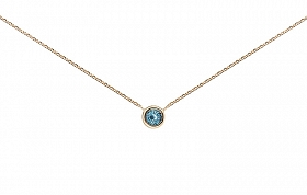 Confetti Gold Aquamarine Necklace