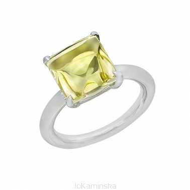 Lemon Quartz Ring