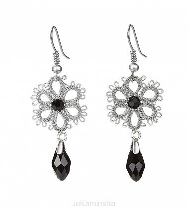 Romanov  Silver Flower Earrings