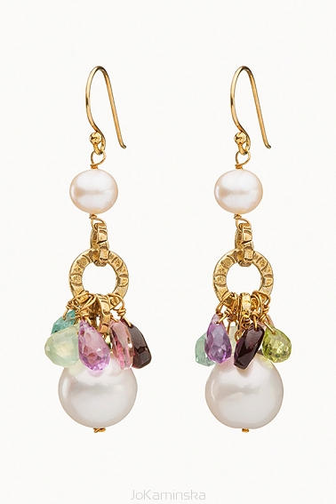 Infinity Semi-Baroque Pearl Earrings