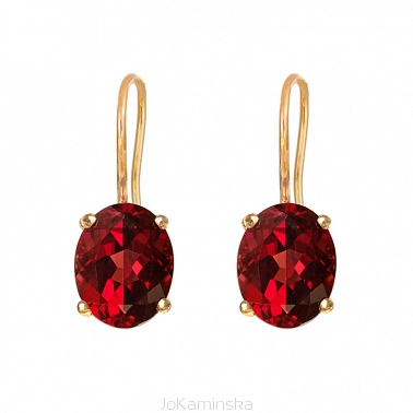 Simplicity Garnet Earrings