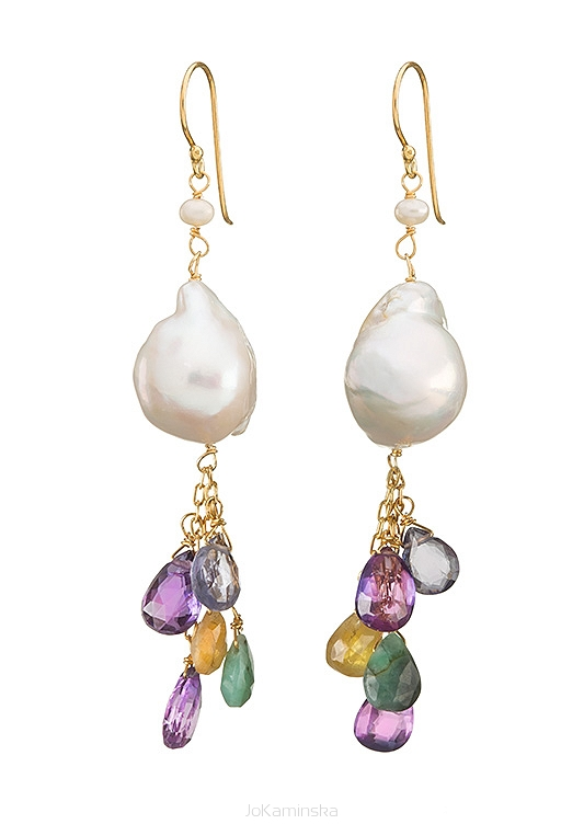 Infinity Baroque Pearl Earrings
